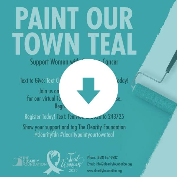 Paint Our Town Teal Instagram Graphic