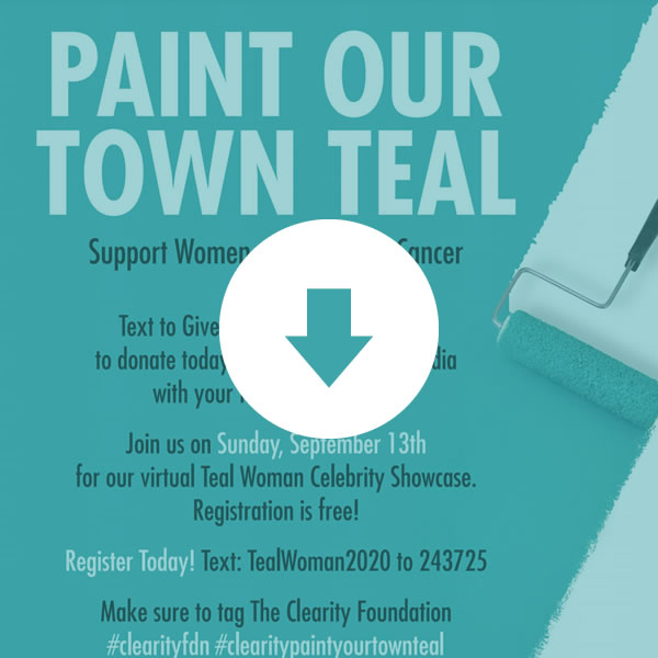 Paint Our Town Teal Poster
